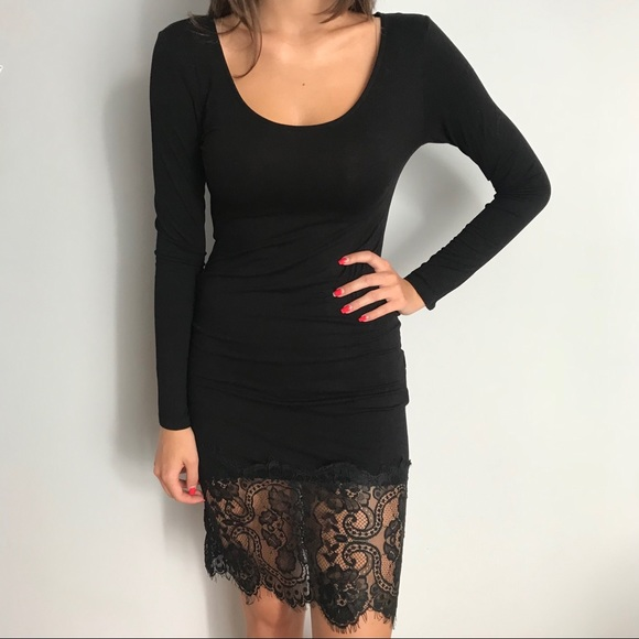 Forever 21 Dresses Long Sleeve Black Lace Dress Poshmark